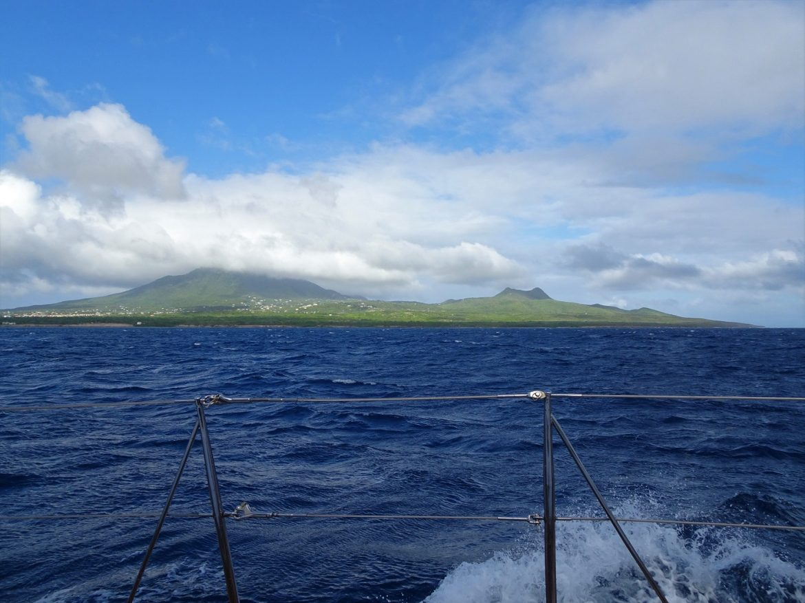 Arriving into Nevis