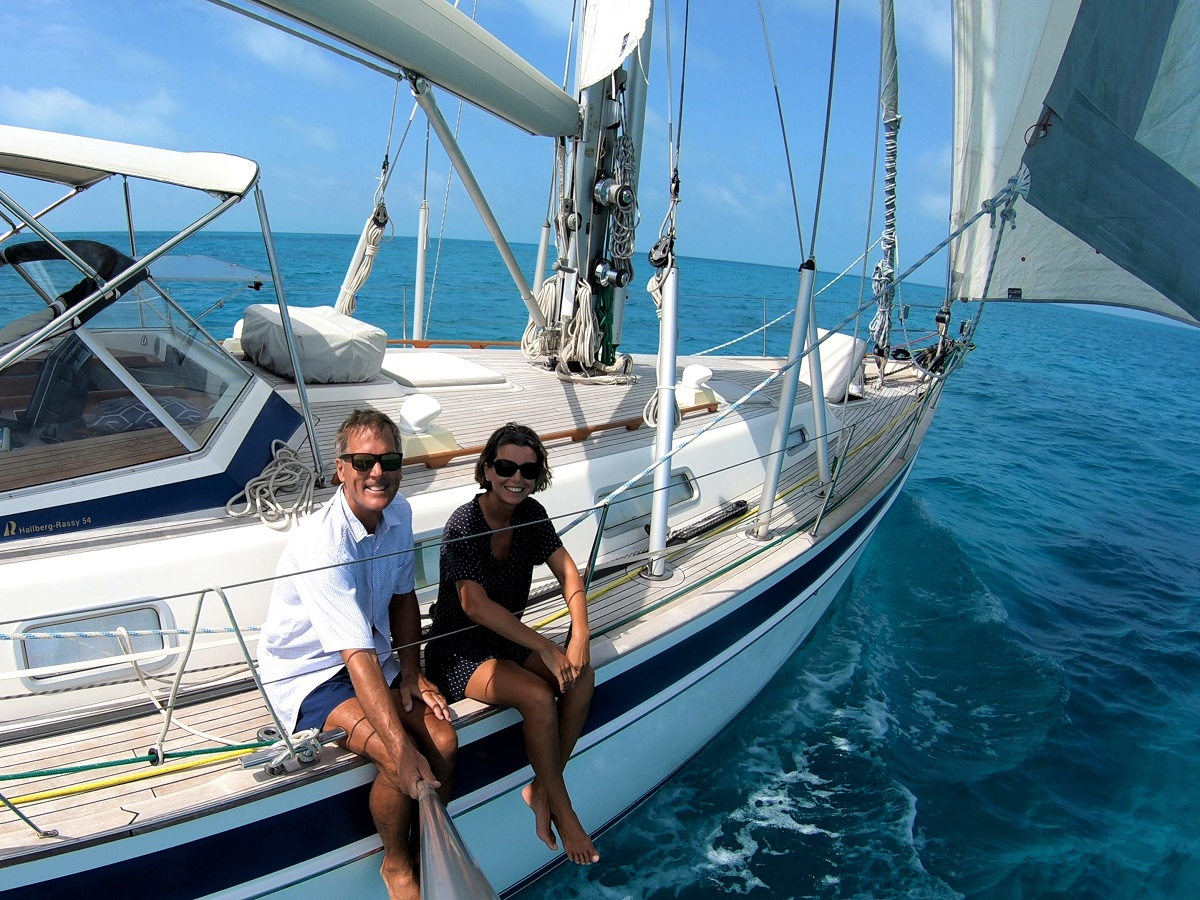 Crossing Caicos Bank, one of our best-ever days on Cloudy